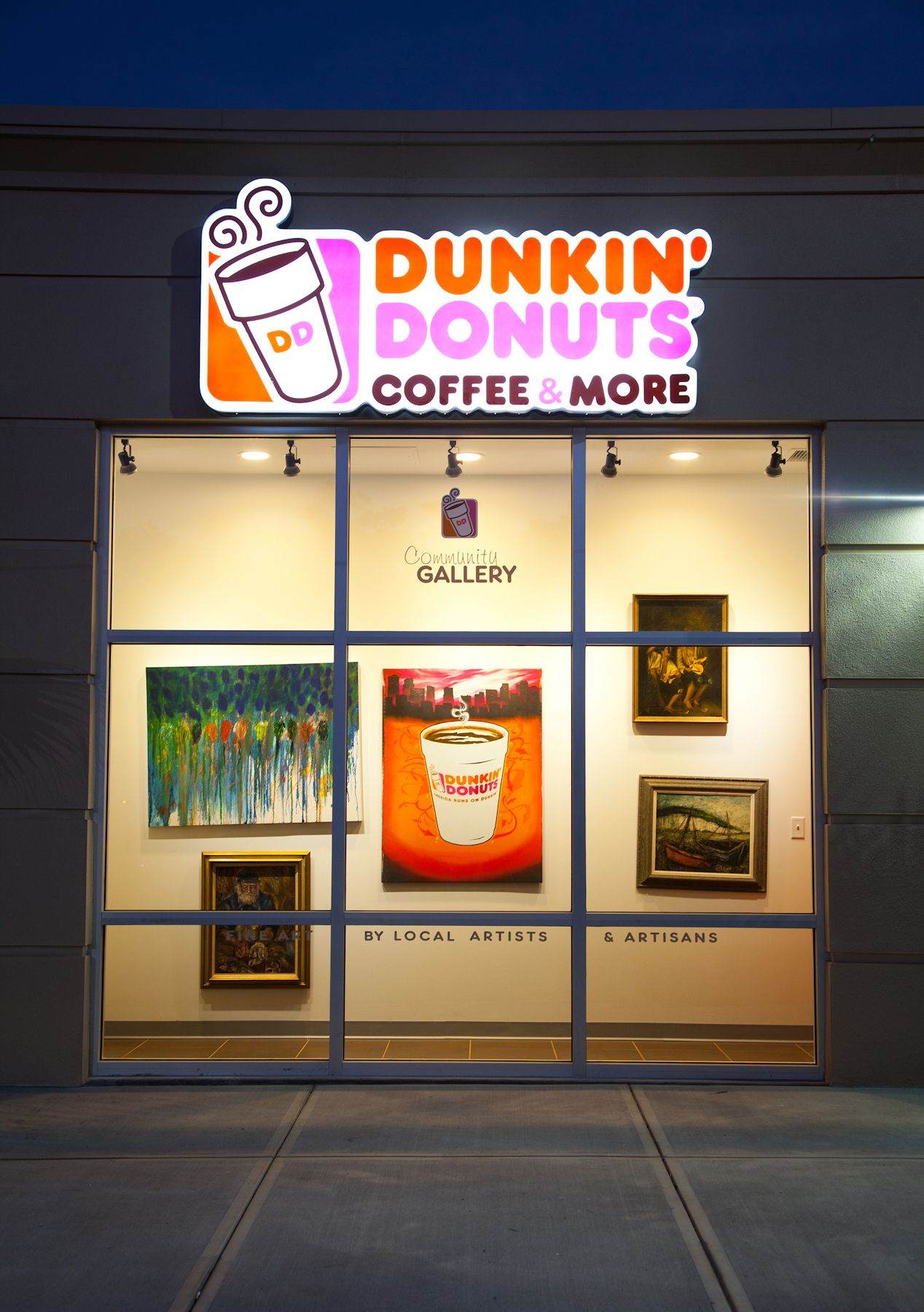 Fun fact: The DD at 1046 4th Street North in St. Petersburg, FL has a community art gallery!