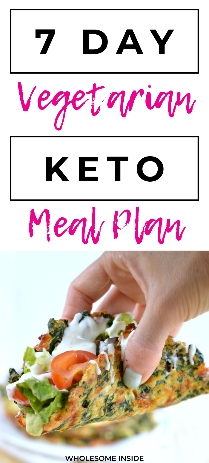 7 Day Vegetarian Keto Meal Plan - Wholesome Inside #ketomealplan