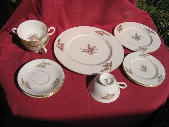 Lenox Harvest Wheat Pattern R441 China by MacHeaths on Etsy, $75.00