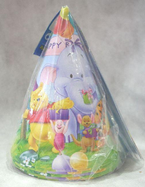 6 Cappellini in cartoncino deco Winnie The Pooh e i suoi amici in festa.  Per Festa a tema e Festa di Compleanno. By C C Creations Store 2a796e8c7571