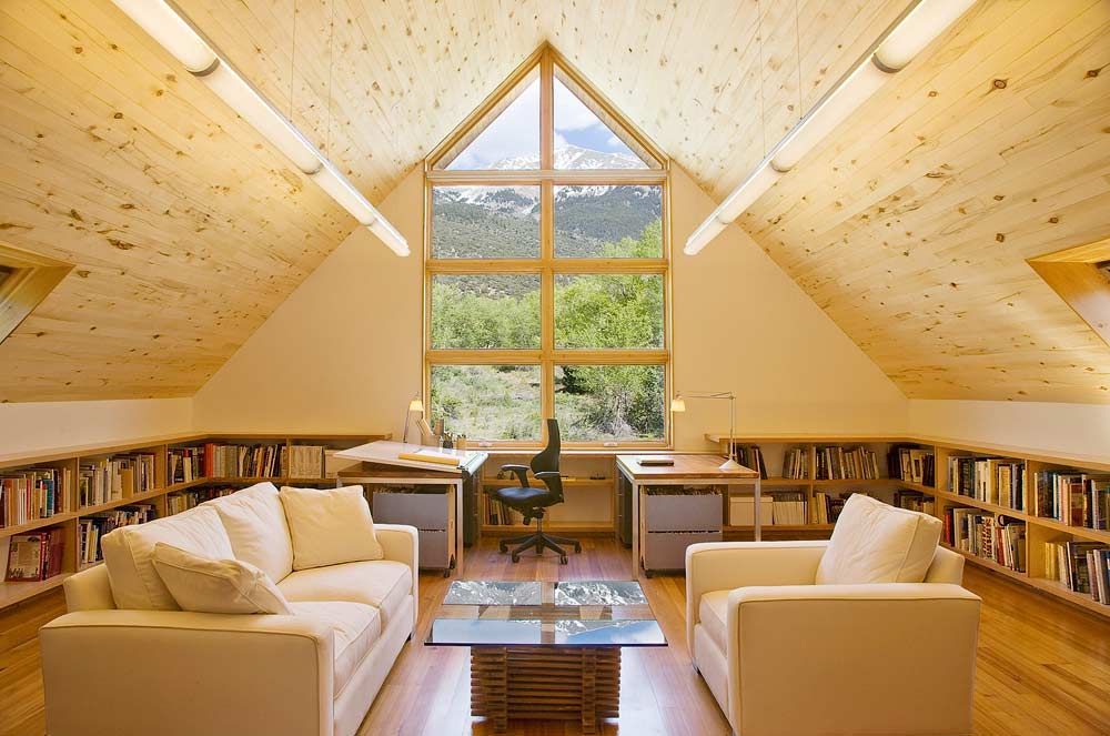 Office Library Attic Renovation Attic Rooms Home
