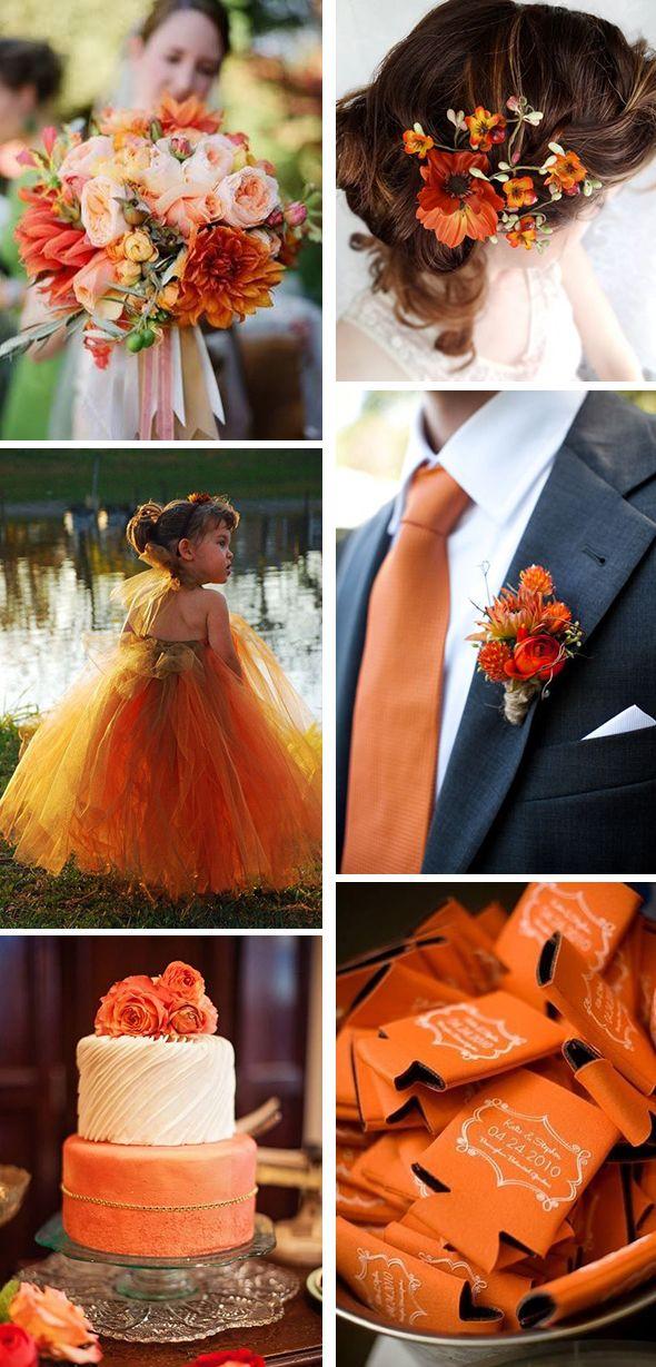 burnt orange wedding
