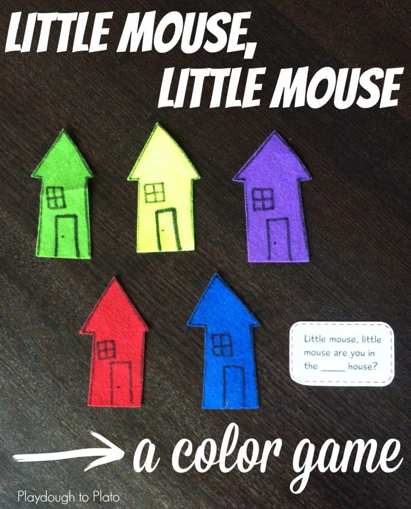 Little Mouse, Little Mouse | Color games, Kids cuts and Busy bags