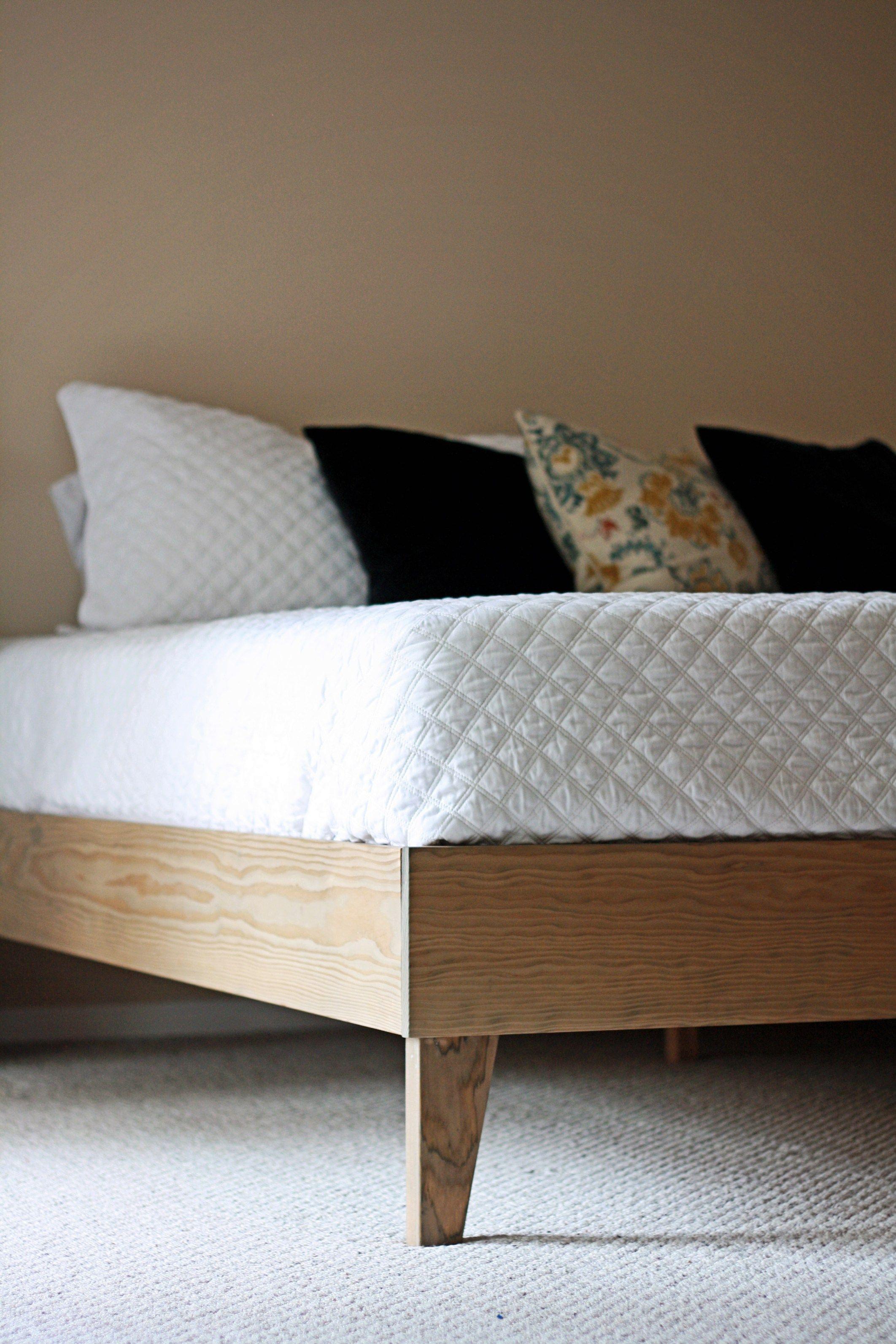 Kingsize Bed Frame modern midcentury platform building
