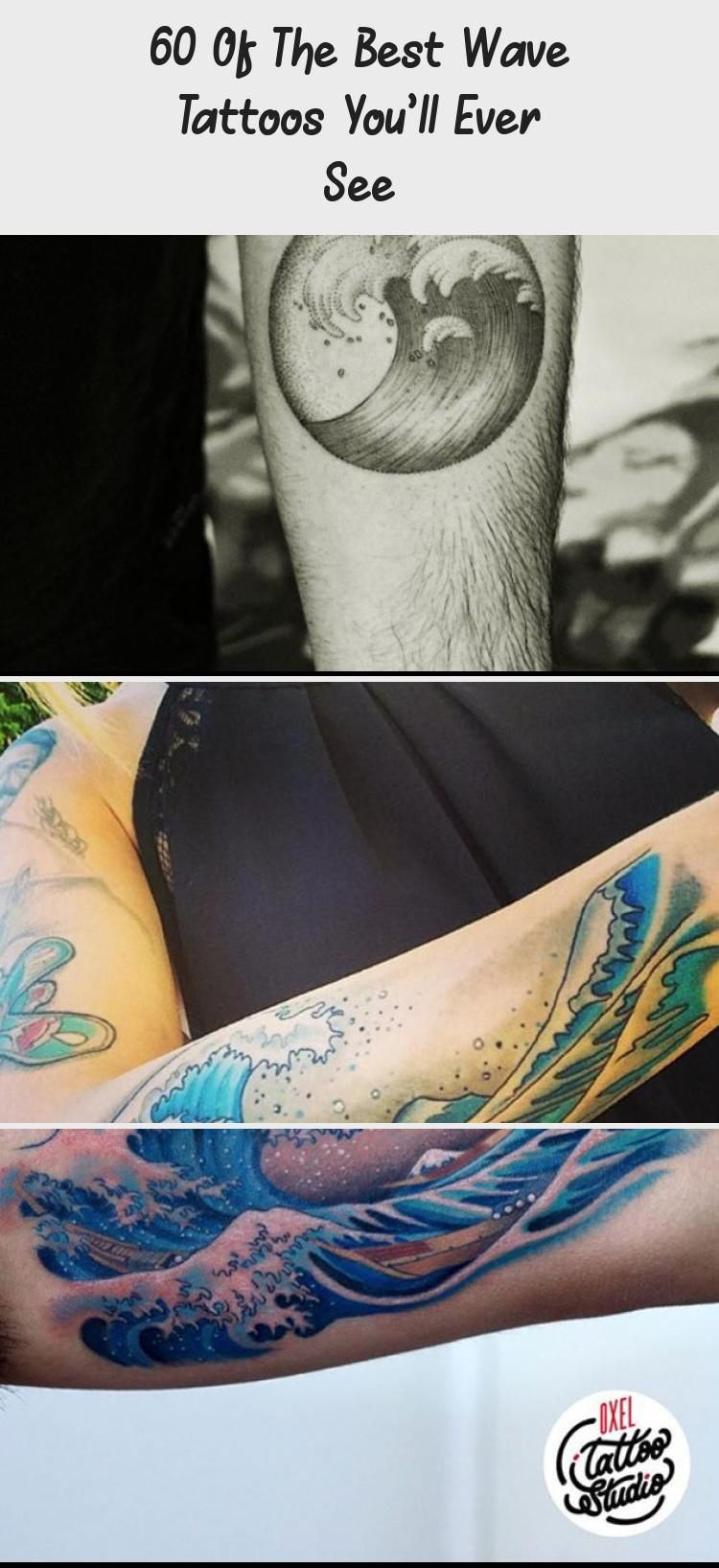 Black ink wave tattoo by sou ultracooltattoos