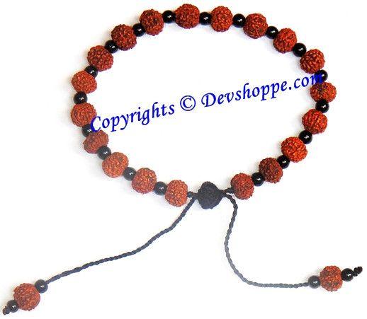 Rudraksha 7 mukhi bracelet with glass spacers | Hinduism