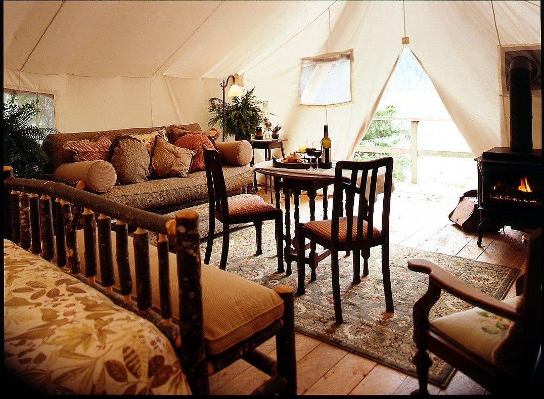 Deluxe Tent with Lounge Area. Pure glamping paradise! www