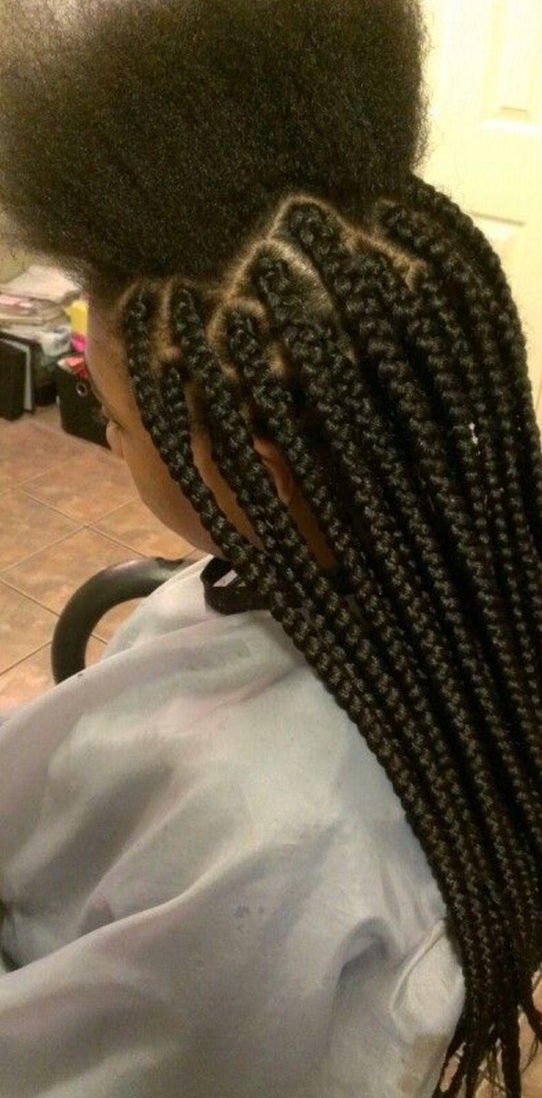 medium box braids : $45   braids by keke   hair styles, box