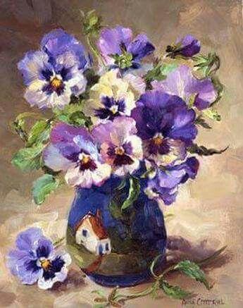 Pansies Painting Flower Painting Flower Art Floral Painting
