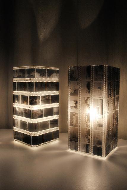 Ikea hack: lámpara gröno con negativos