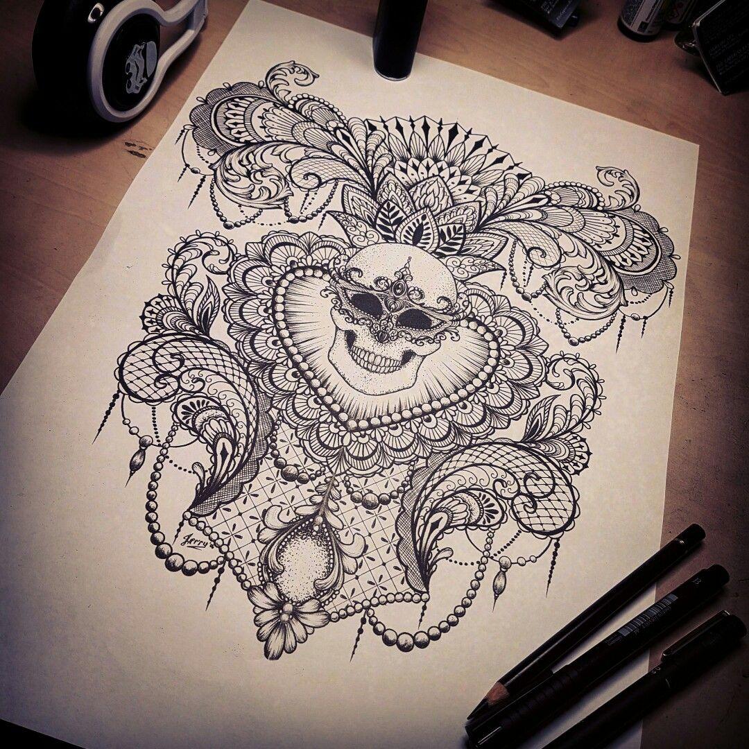 Henna Tattoo Gold Coast : Beautiful skull mendi mandala lotus flower by dzeraldas