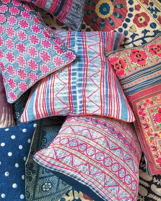 bohemian deko 5 elemente f r den look wohnung pinterest kissen deko und wohn m bel. Black Bedroom Furniture Sets. Home Design Ideas