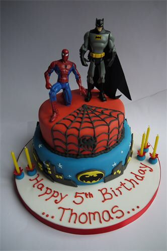 coloring pages batman spiderman cakes - photo#10
