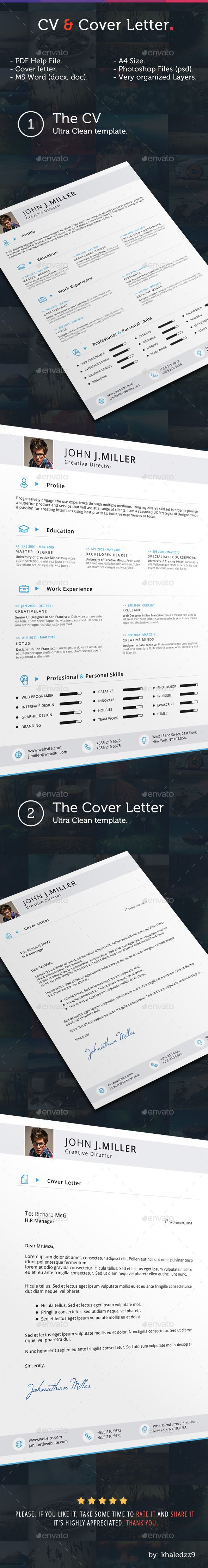 CV & Cover Letter | Cv cover letter, Template and Creative resume ...