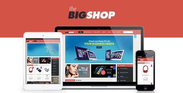 BigShop - WooCommerce Responsive WordPress Theme | Pinterest