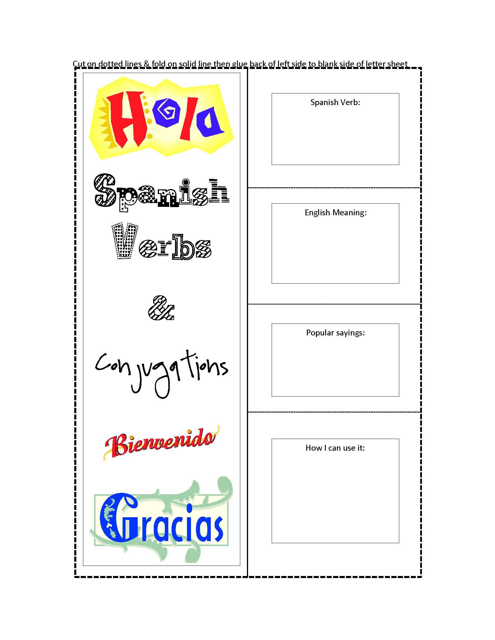 Spanish Conjugation Worksheets