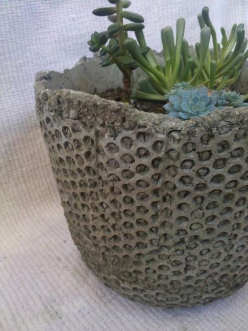 Diy Concrete Planters Ideas For Outdoor Home Decorating 400 x 300