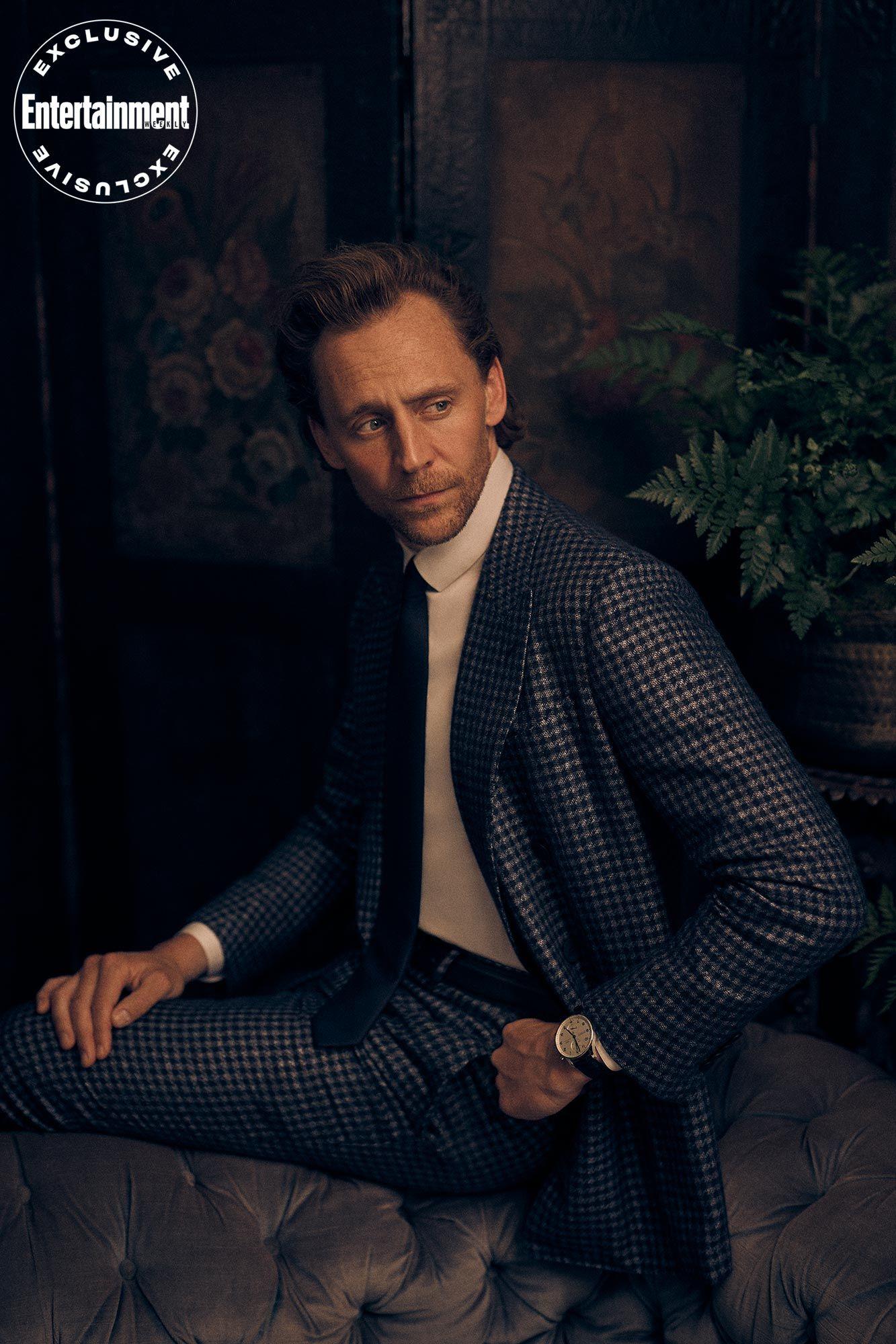 Tom Hiddleston suits up for EW's <em>Loki </em>digital cover shoot