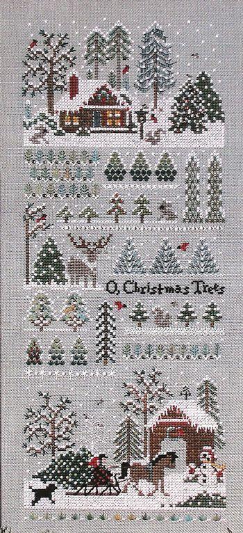 Victoria Sampler 61 Jingle Bells Christmas Tree Farm Kreuzstichmuster Weihnachten Kreuzstich Sticken Kreuzstich