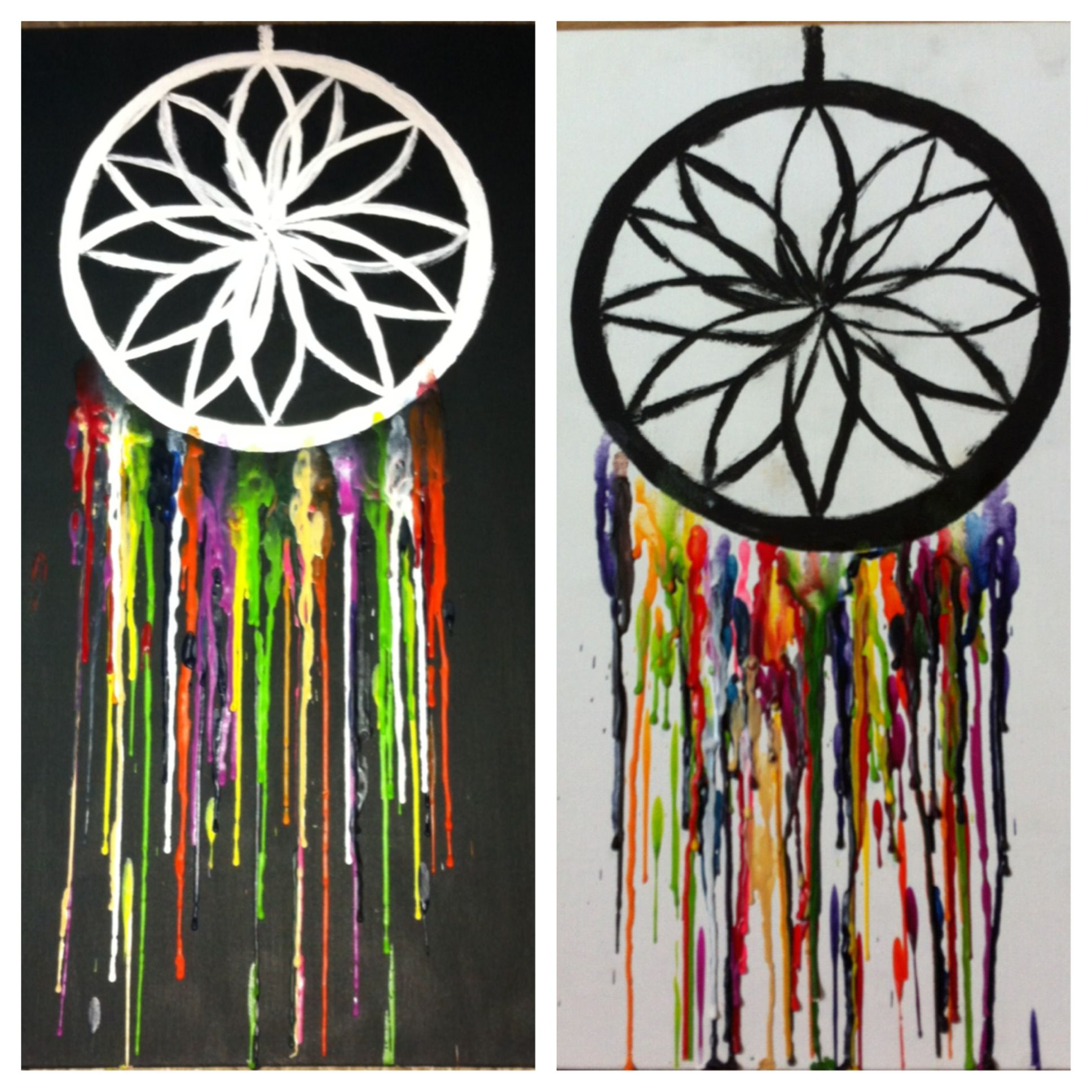 Melted Crayon Art Dream Catcher