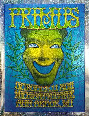 Primus Ann Arbor Foil Variant Poster by Dave Hunter