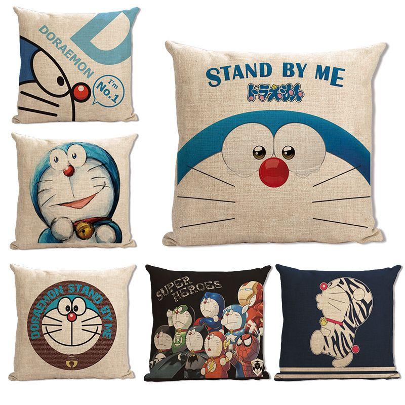 Doraemon Pillow Cover Doraemon Pillow Case Cartoon Doraemon Cat Japan Throw Pillow Cover Pillowcase Wholesale Cat Throw Pillow Throw Pillows Home Textile