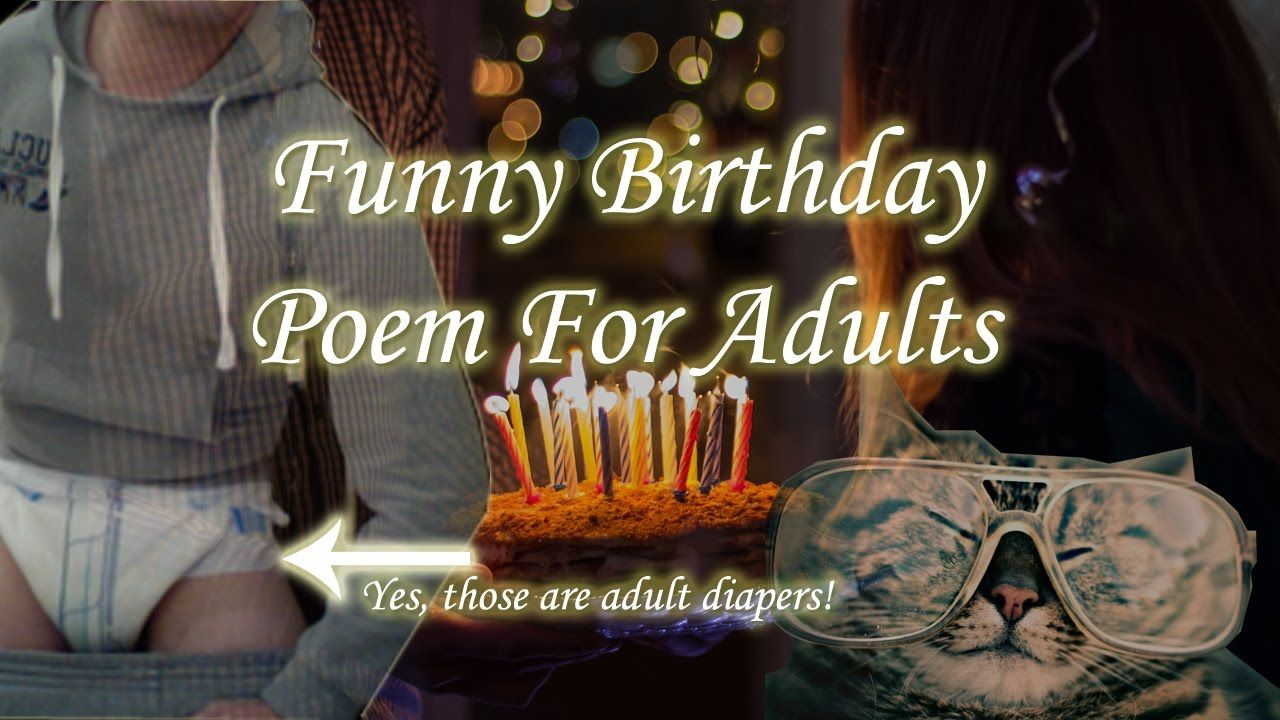 Funny Happy Birthday Poem For Adults Funny happy