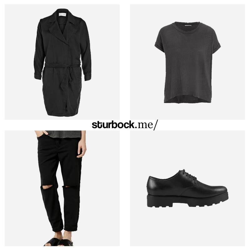 Vintage-Look: Ausgewaschener Mantel und T-Shirt, hochgekrempelte Jeans im Destroy-Look und Schnürer aus Leder. Hier entdecken und shoppen: http://sturbock.me/djZ