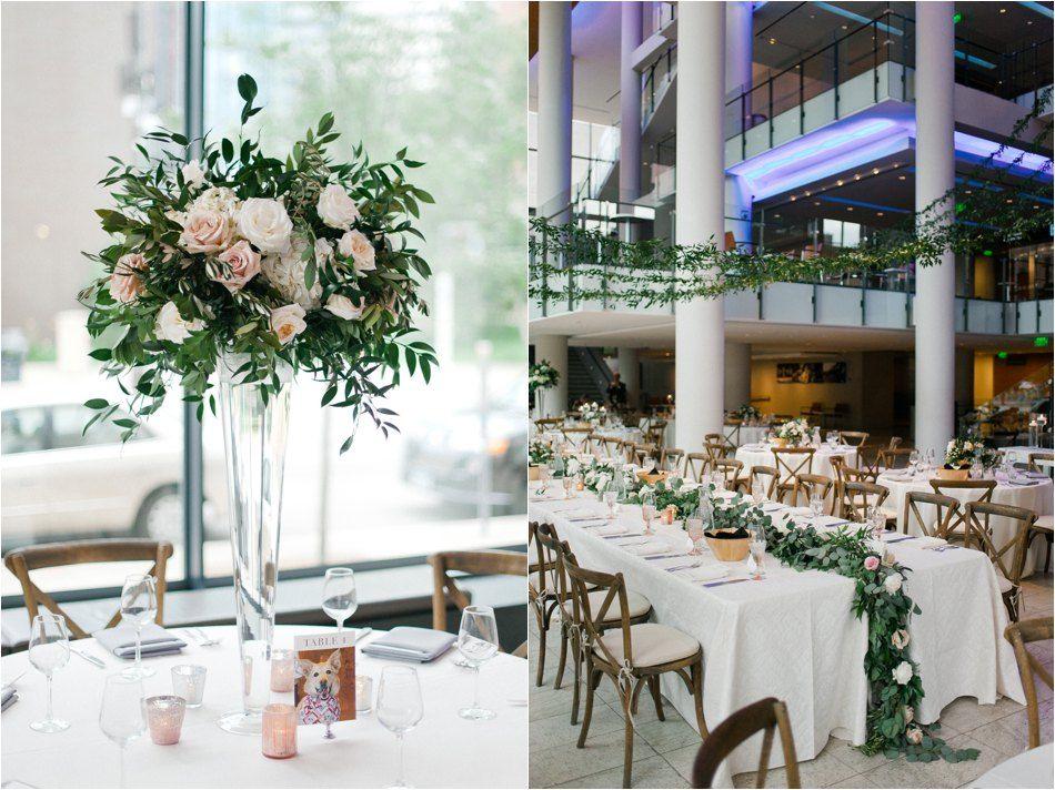 Minnesota Orchestra Hall Wedding Blush And Greenery Minneapolis Mn Wedding Coordination By L Minnesota Wedding Weddings By Color Wedding Ceremony Sites