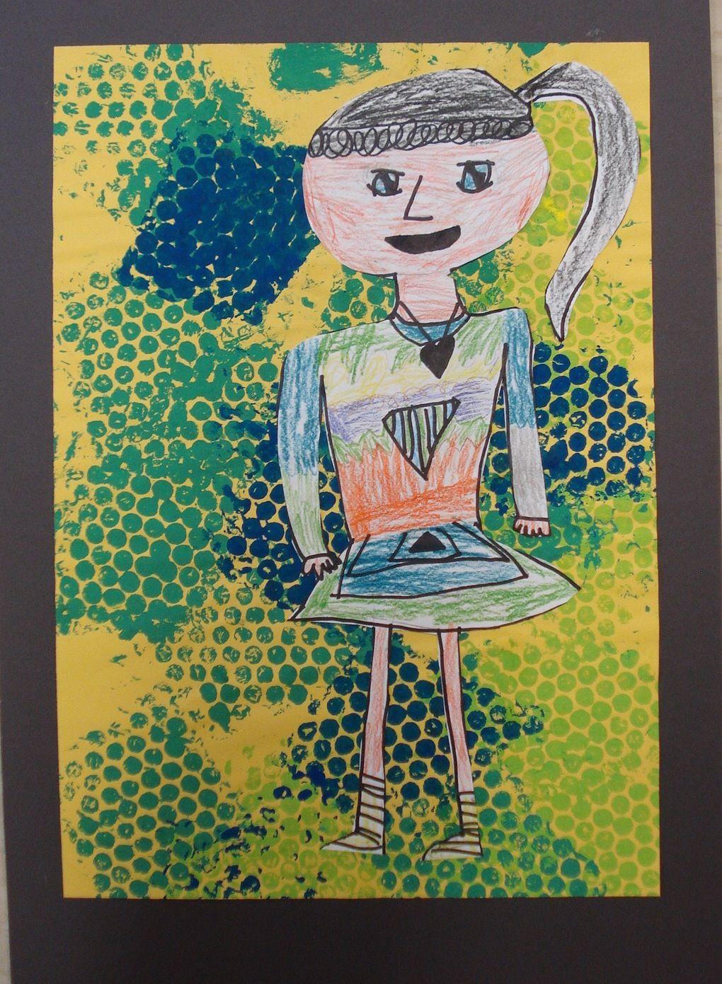 how to draw self portrait kindergarten