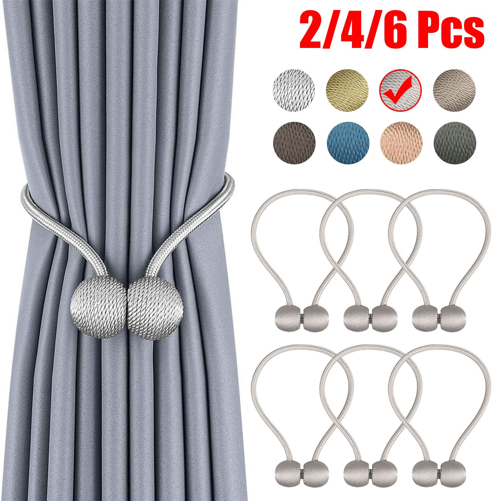 Home Curtain Decor Tieback Magnetic Curtain