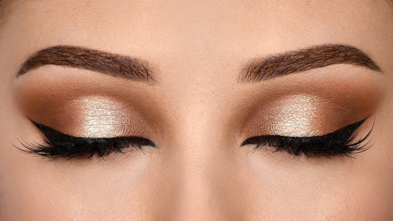 Affordable SOFT BROWN HALO Smokey Eye Makeup Tutorial in