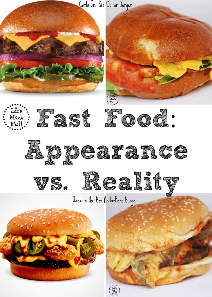 Fast Food Appearance Vs Reality Life Made Full