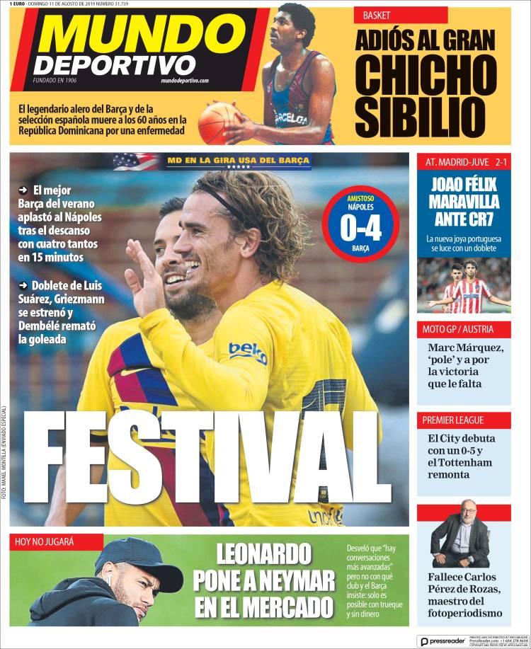 20190811 Periódico El Mundo Deportivo (España