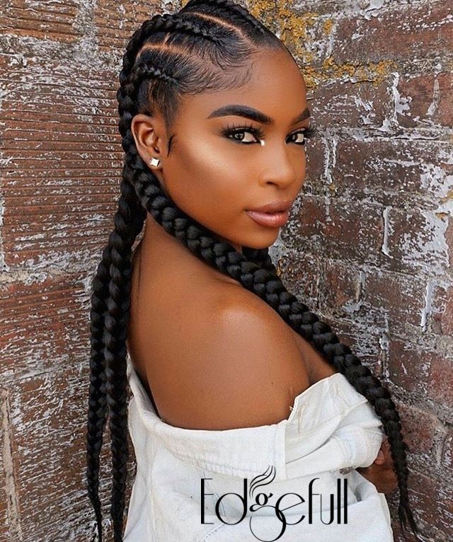 Thinning Hairline Cover Up With Edgefull Braids For Black Hair Cornrow Hairstyles Hair Styles