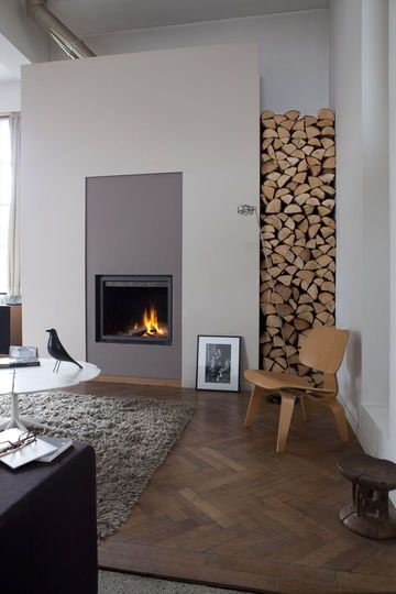 Fireplace, herringbone