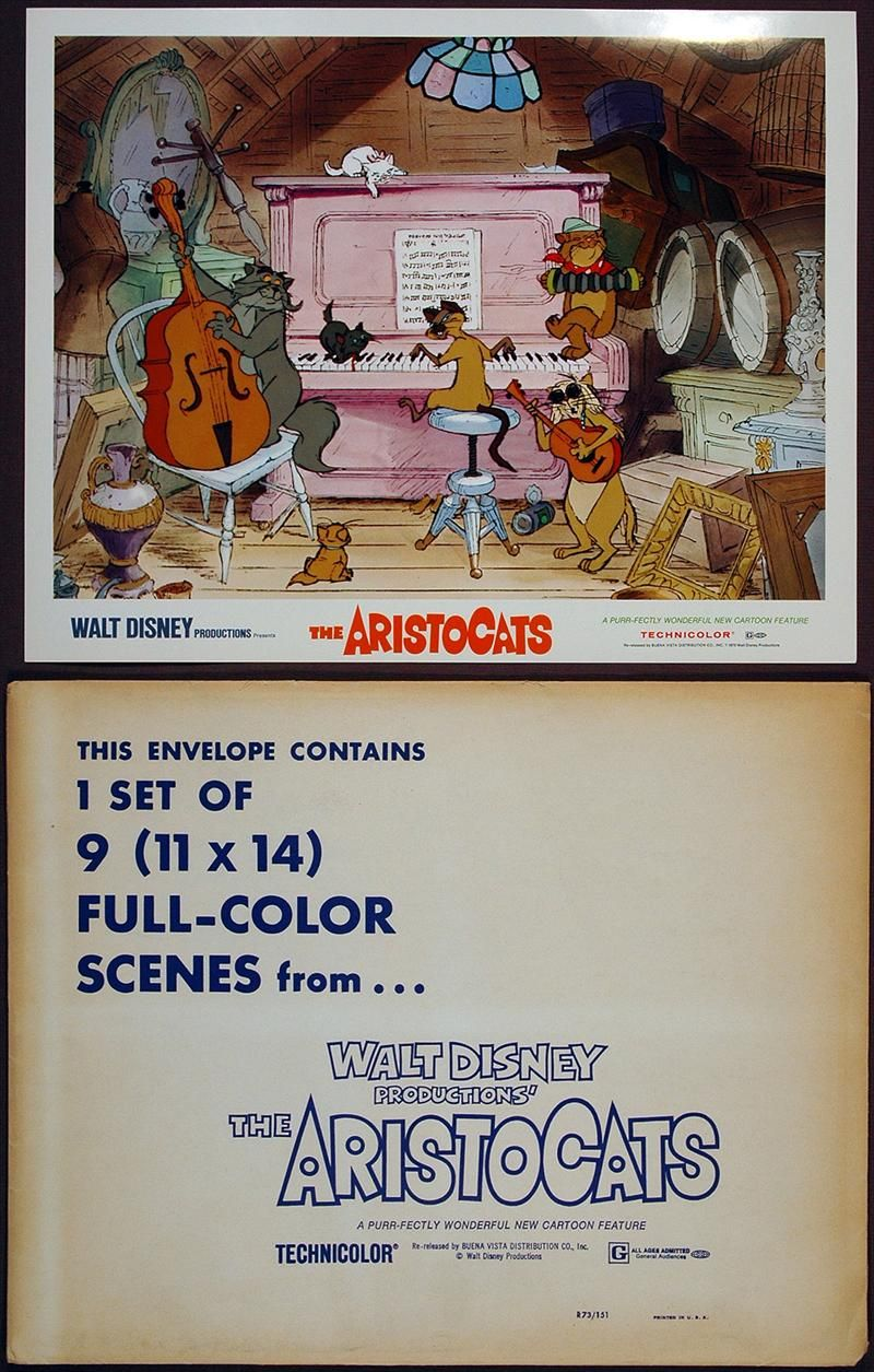 the aristocats lobby card and envelope