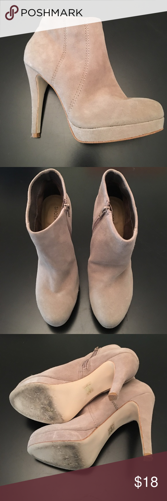 """ShoeMint Tan Suede Booties Size 8 ShoeMint Tan Suede Booties. In excellent condition. Only worn twice. 4"""" heel. Shoemint Shoes Ankle Boots & Booties"""