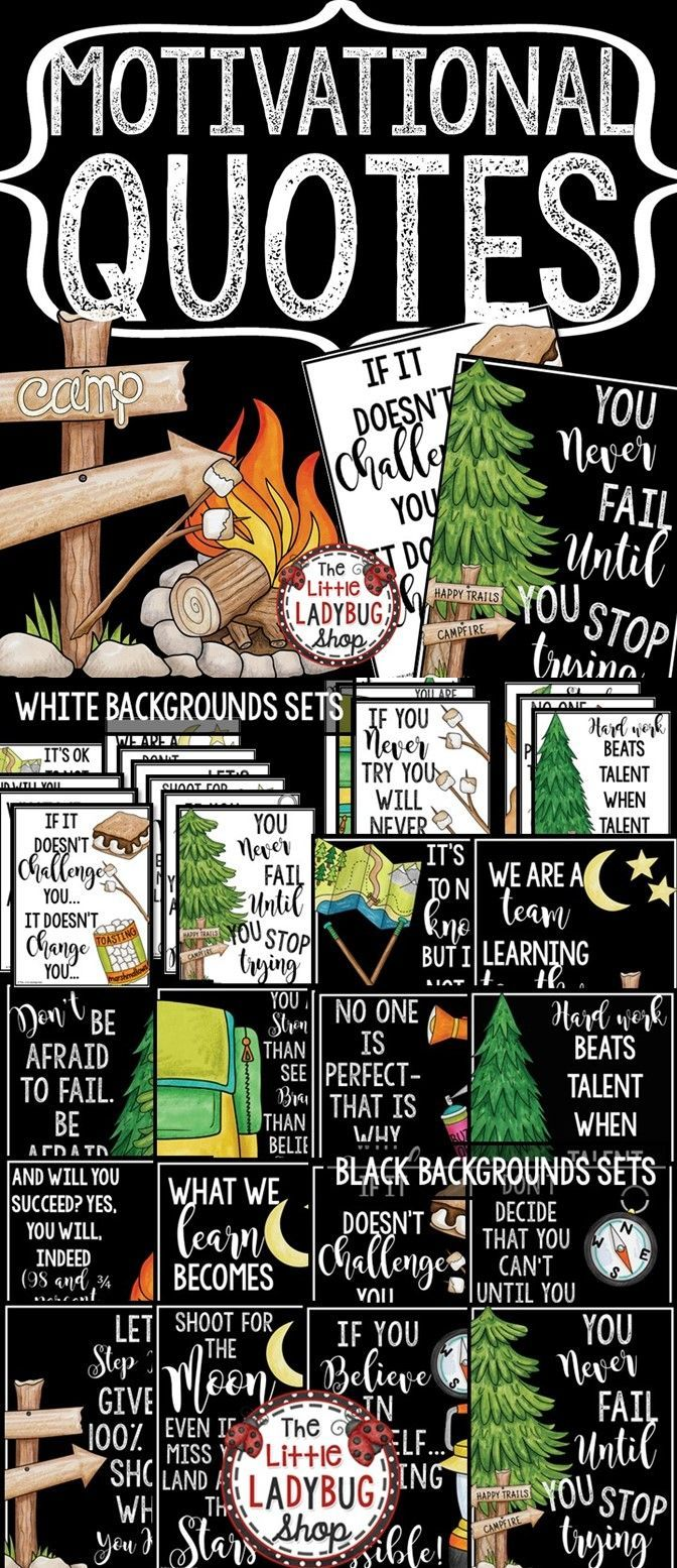 Camping Theme Classroom Decor Motivational Posters