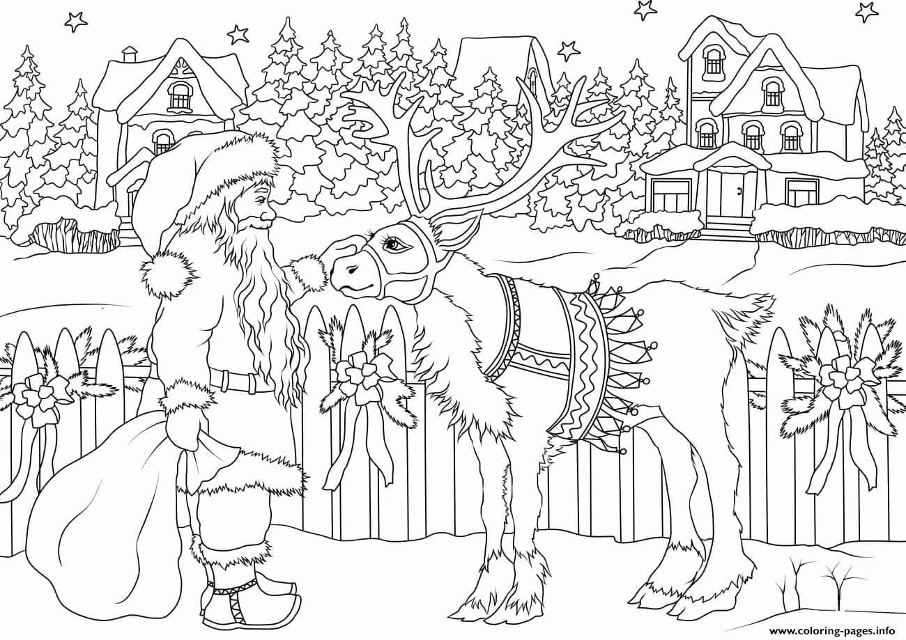 Coloring Page Santa Clause