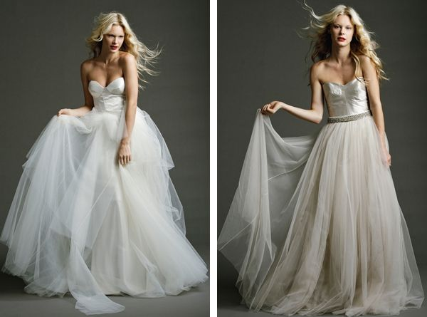 (image On Right) Long Tulle Skirt/dress...minus The Bridal