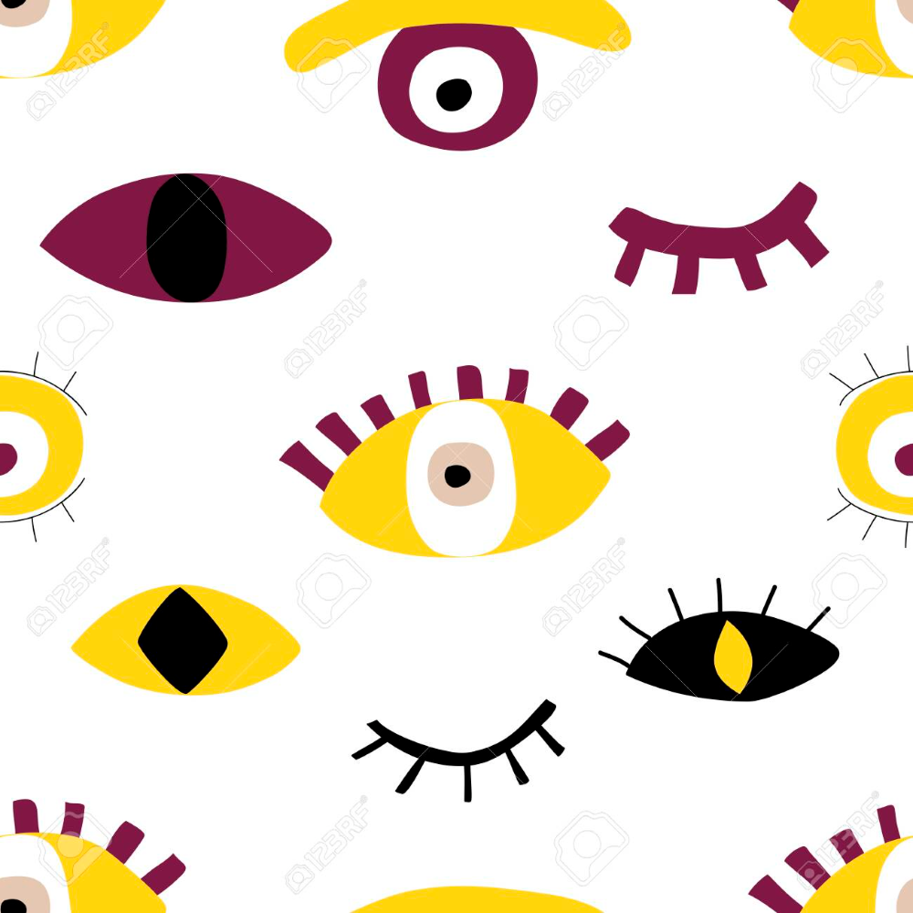 Hand Drawing Evil Eyes Seamless Pattern Abstract Shapes Of Talismans Abstract Shapes Seamless Patterns How To Draw Hands
