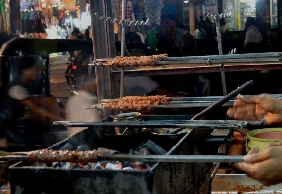 Superb sheekh kebab in Old City, Hyderabad