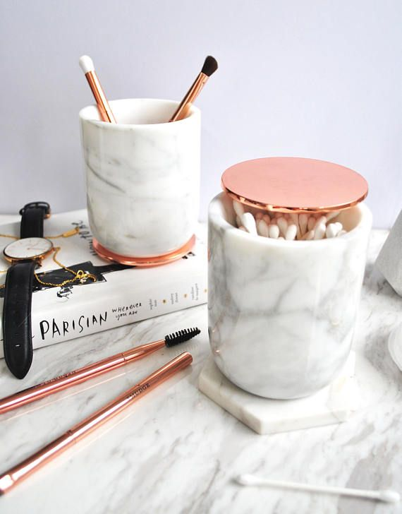 this beautiful white marble jar and copper lid is made from 100 real marble carrara marble. Black Bedroom Furniture Sets. Home Design Ideas