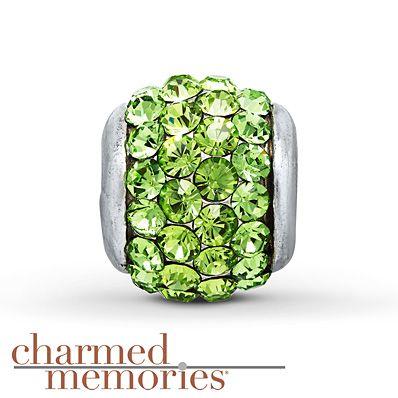 Charmed Memories Green Crystal Charm Sterling Silver 0hWOoHUdy7