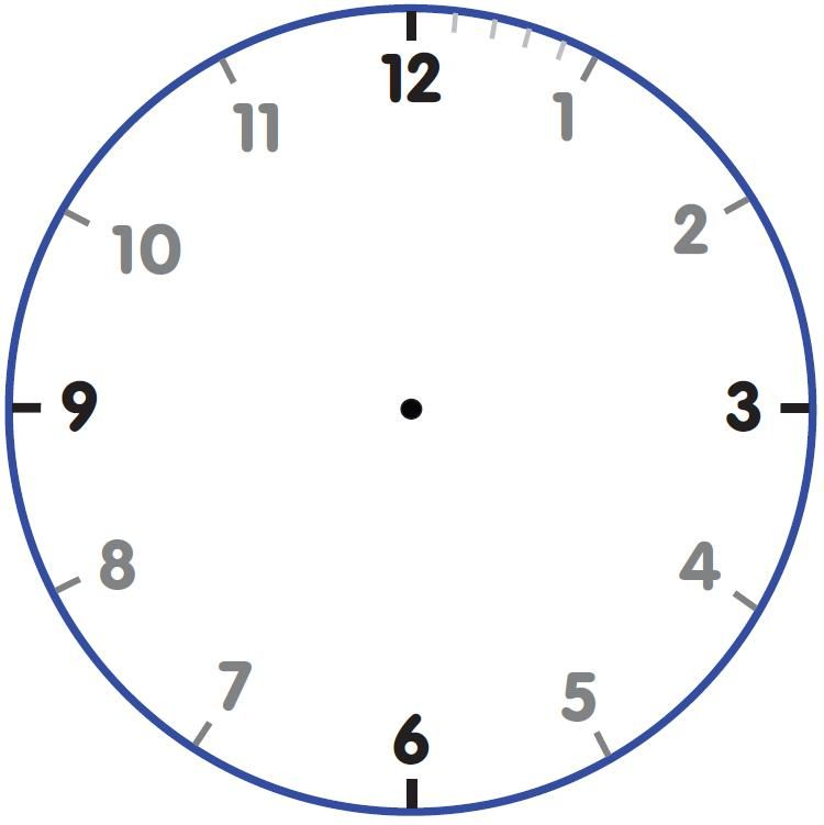 Printable Clock Face Wall Clock Face Template Clock Face Template