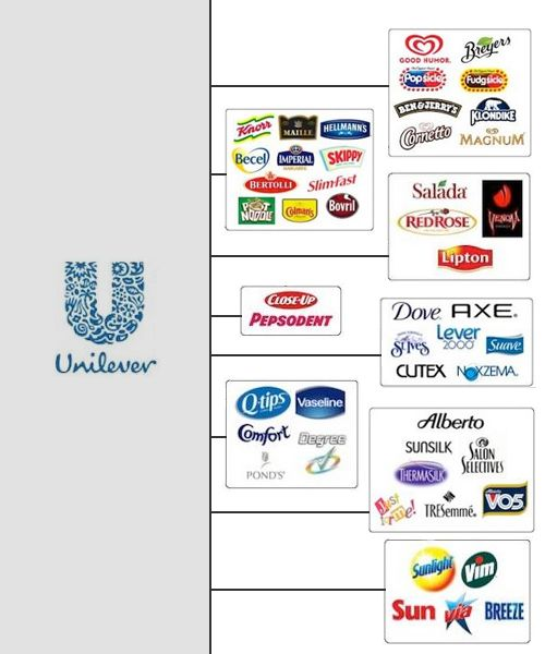 afe309870b The Top Ten US Corporate Giants That Control Your Choice - Unilever ...