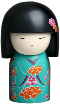 """Kimmidoll™ Aya - 'Colourful' - """"My spirit inspires and soothes the soul. Release the power of my spirit by filling your life with colour. Let my cool blues and greens soothe and calm you, and let the warmth of my reds and yellows energise and inspire you."""""""