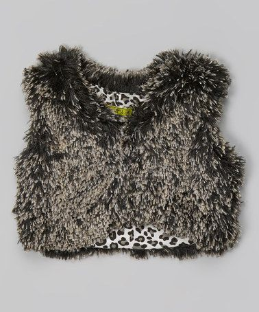 Take a look at this Little Mass: Safari Party Fur Waistcoat by Little Mass on #zulily today!