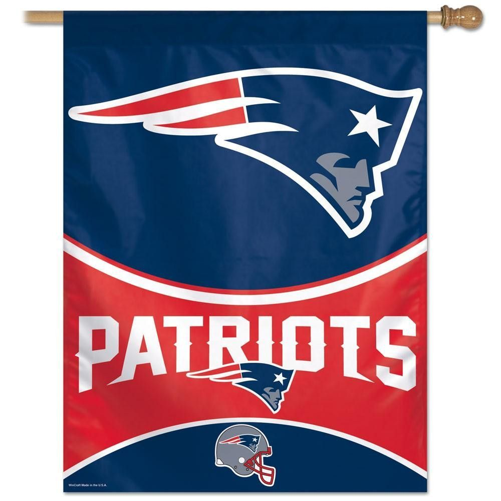 New England Patriots Nfl Vertical Flag 27x37 New England Patriots Flag Nfl New England Patriots New England Patriots Logo